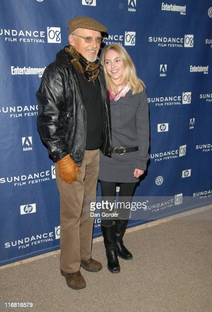 Actors Dennis Hopper and AnnaSophia Robb attend the premiere of 'Sleepwalking' at Eccles Theatre during the 2008 Sundance Film Festival on January 22...