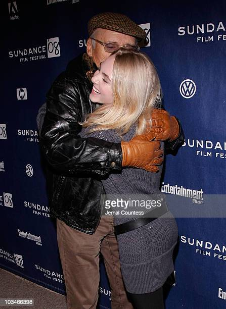 Actors Dennis Hopper and AnnaSophia Robb attends the premiere of Sleepwalking at Eccles Theatre during the 2008 Sundance Film Festival on January 22...