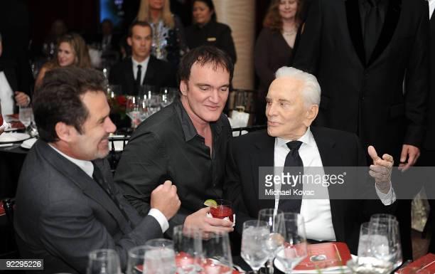 Actors Dennis Miller Quentin Tarantino and Kirk Douglas attend Santa Barbara International Film Festival's Kirk Douglas Award Gala at Biltmore Four...