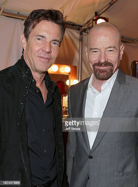 Actors Dennis Quaid and Bryan Cranston attend the 2013 Film Independent Spirit Awards at Santa Monica Beach on February 23 2013 in Santa Monica...