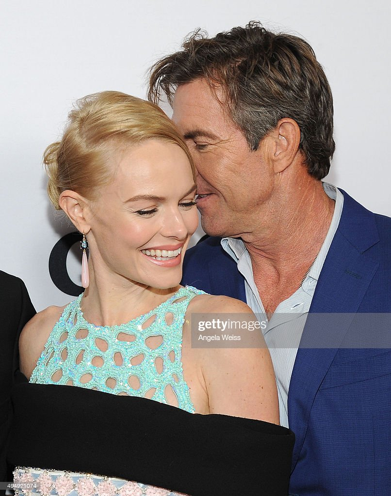 Actors Dennis Quaid and Kate Bosworth arrive at the premiere of Crackle's 'The Art of More' at Sony Pictures Studios on October 29, 2015 in Culver City, California.