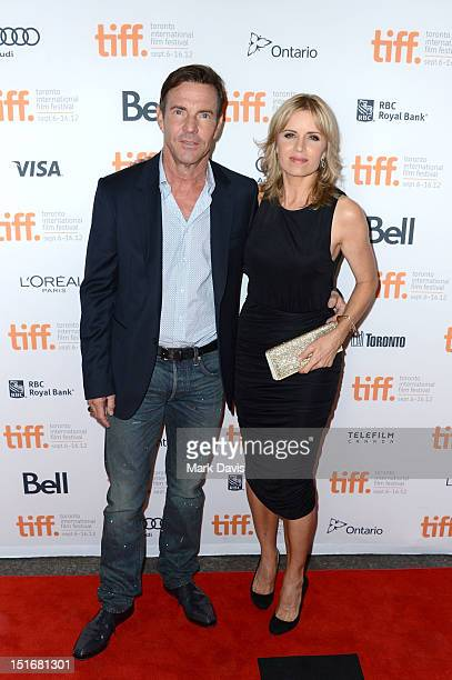 Actors Dennis Quaid and Kim Dickens attend the 'At Any Price' premiere during the 2012 Toronto International Film Festival at the Princess of Wales...