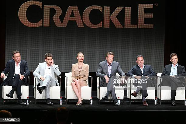 Actors Dennis Quaid Christian Cooke Kate Bosworth and Cary Elwes writer/executive producer Gardner Stern and creator/writer/executive producer Chuck...