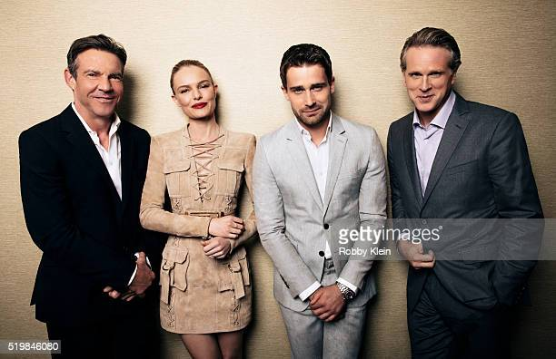Actors Dennis Quaid Kate Bosworth Christian Cooke and Cary Elwes are photographed at the 2015 Summer TCAs for The Wrap on July 30 2015 in Hollywood...