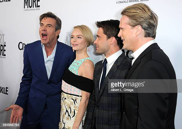 Actors Dennis Quaid Kate Bosworth Christian Cooke and Cary Elwes arrive for the Premiere Of Crackle's 'The Art Of More' held at Sony Pictures Studios...