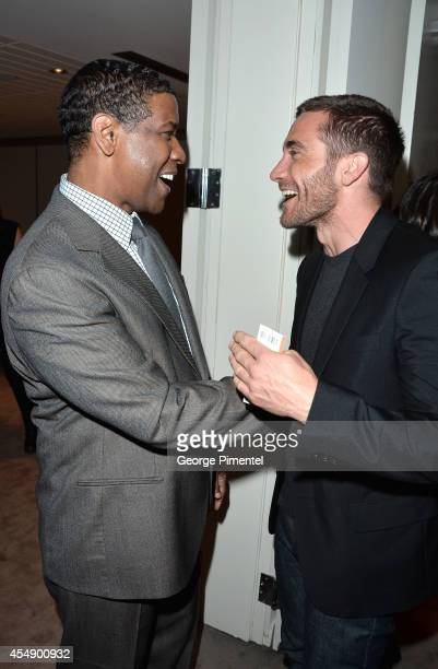 Actors Denzel Washington and Jake Gyllenhaal attend The Equalizer premiere during the 2014 Toronto International Film Festival at Roy Thomson Hall on...