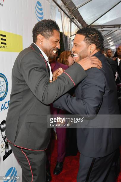 Actors Deon Cole and Anthony Anderson attend the 48th NAACP Image Awards at Pasadena Civic Auditorium on February 11 2017 in Pasadena California