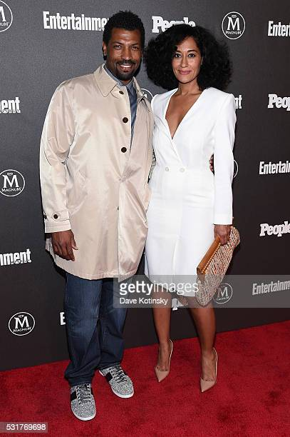 Actors Deon Cole and Tracee Ellis Ross attend the Entertainment Weekly People Upfronts party 2016 at Cedar Lake on May 16 2016 in New York City