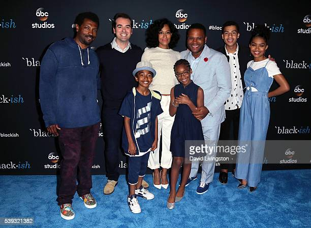 Actors Deon Cole Jeff Meacham Miles Brown Tracee Ellis Ross Marsai Martin Anthony Anderson Marcus Scribner and Yara Shahidi attend the FYC event for...
