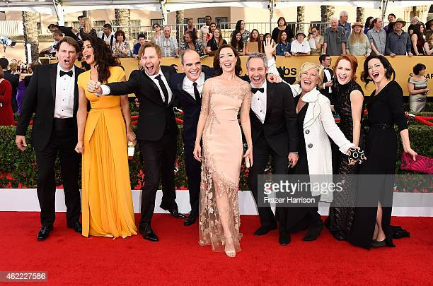 Actors Derek Cecil Mozhan Marno Jimmi Simpson Michael Kelly Molly Parker Michael Gill Jayne Atkinson Rachel Brosnahan and Joanna Going of ''House of...