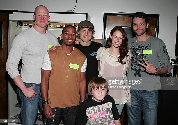 Actors Derek Mears Arlen Escarpeta Travis Van Winkle Caleb Guss Amanda Righetti and Nick Mennell attend Anchor Bay Entertainment's Jason Voorhees...