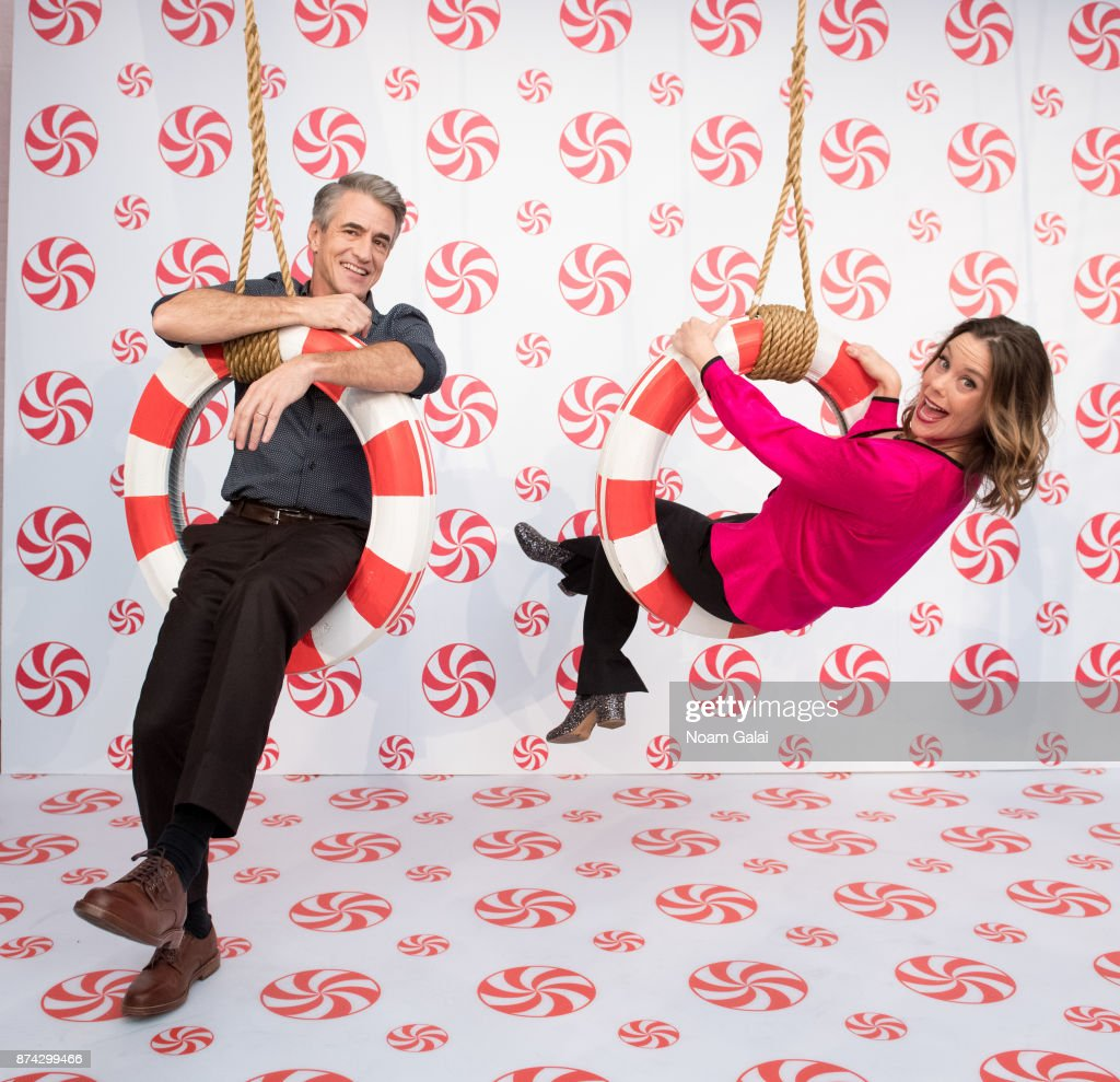 Actors Dermot Mulroney and Ashley Williams attend the opening of Hallmark's Museum of Christmas on November 14, 2017 in New York City.