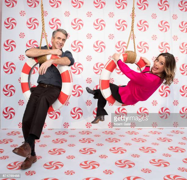 Actors Dermot Mulroney and Ashley Williams attend the opening of Hallmark's Museum of Christmas on November 14 2017 in New York City