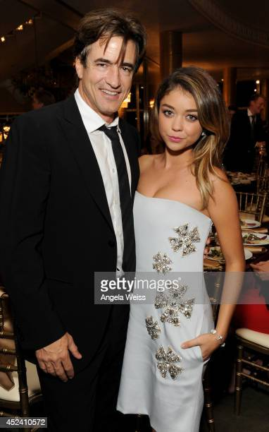 Actors Dermot Mulroney and Sarah Hyland attend Dizzy Feet Foundation's Celebration Of Dance Gala at The Music Center on July 19 2014 in Los Angeles...