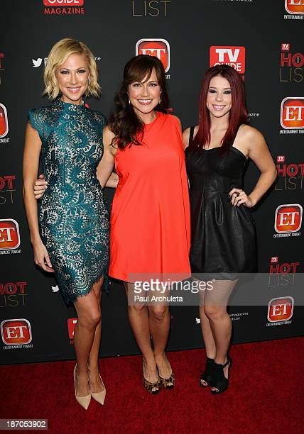 Actors Desi Lydic Nikki DeLoach and Jillian Rose Reed attend TV Guide magazine's annual Hot List Party at The Emerson Theatre on November 4 2013 in...