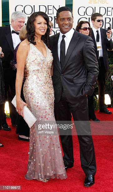 Actors Desiree Dacosta and Blair Underwood arrive at the 68th Annual Golden Globe Awards held at The Beverly Hilton hotel on January 16 2011 in...