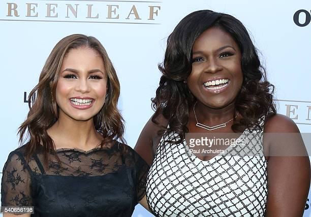 Actors Desiree Ross and Deborah Joy Winans attend the premiere of OWN's Greenleaf at The Lot on June 15 2016 in West Hollywood California