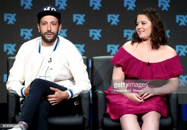 Actors Desmin Borges and Kether Donohue of 'You're The Worst' speak onstage during the FX portion of the 2017 Summer Television Critics Association...