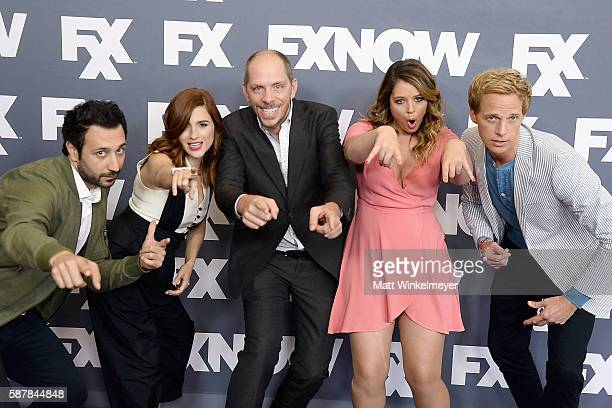 Actors Desmin Borges Aya Cash producer Stephen Falk Chris Geere and Kether Donohue attend the FX Networks TCA 2016 Summer Press Tour on August 9 2016...