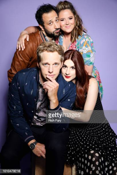 Actors Desmin Borges Kether Donohue Chris Geere Aya Cash of FX's 'You're the Worst' pose for a portrait during the 2018 Summer Television Critics...