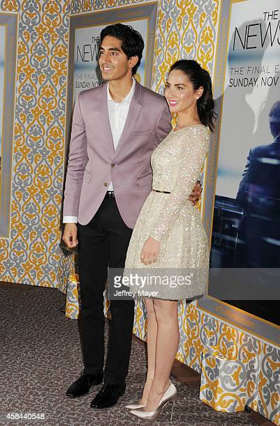 Actors Dev Patel and Olivia Munn attend the Los Angeles season 3 premiere of HBO's series 'The Newsroom' held at the DGA Theater on November 4 2014...