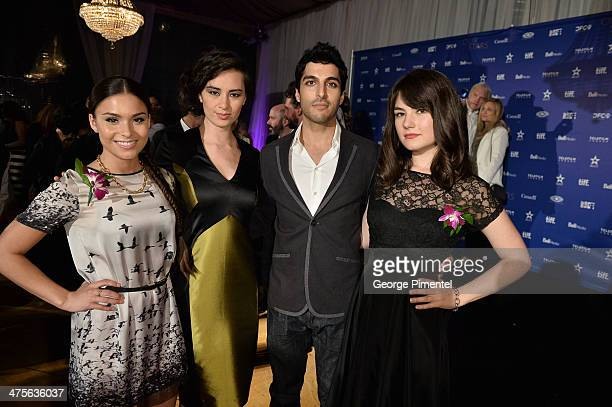 Actors Devery Jacobs Cara Gee Keon Mohajeri and Katie Boland attends Canada's Stars Of the Awards Season presented by TeleFilm on February 27 2014 in...