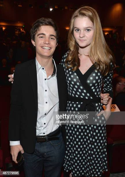 Actors Devon Bagby and Kerris Dorsey attend an exclusive panel discussion with the cast of Showtime's 'Ray Donovan at Leonard H Goldenson Theatre on...