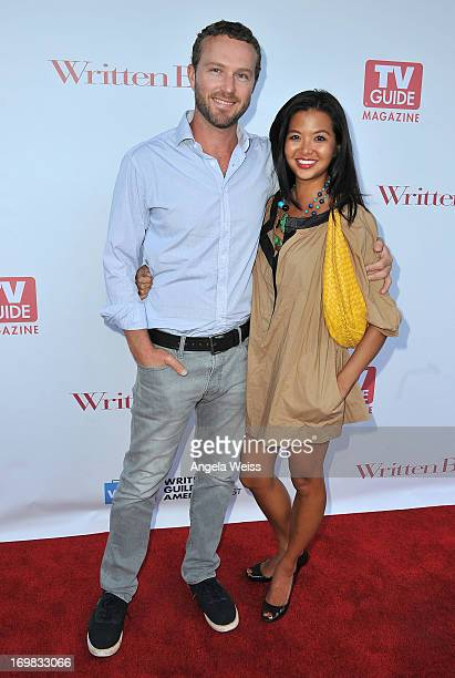 Actors Devon Gummersall and Jenn Liu arrive at WGA's tribute event to unveil '101 Best Written TV Series' at Writers Guild Theater on June 2 2013 in...