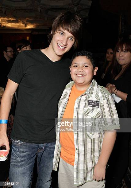 Actors Devon Werkheiser and Rico Rodriguez attend the Melanie Segal's Celebrity SOS Lounge at House of Blues Sunset Strip on June 4 2010 in West...
