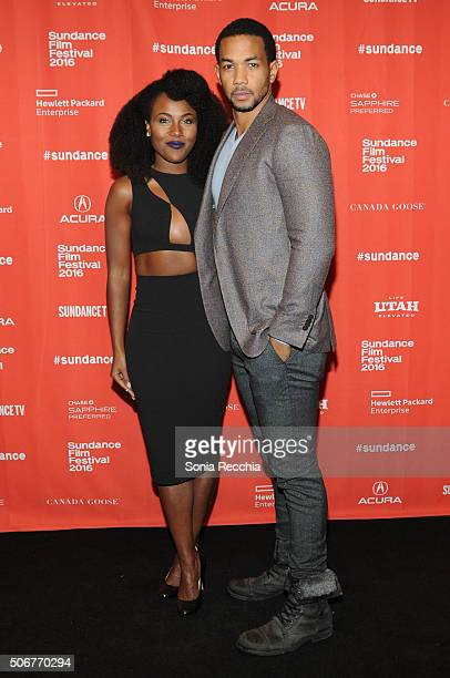 Actors DeWanda Wise and Alano Miller attend the 'How To Tell You're A Douchebag' Premiere during the 2016 Sundance Film Festival at Prospector Square...