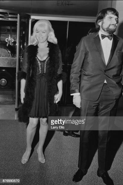 Actors Diana Dors and Troy Dante at the 21st British Academy Film Awards UK 29th March 1968