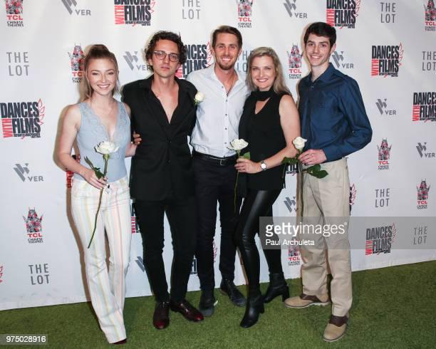Actors Diana Hopper Sebastian Gregory Ryan Shoos Maria Maestas McCann and Michael L McNulty attend the premiere of 'Shooting In Vain' at the Dances...