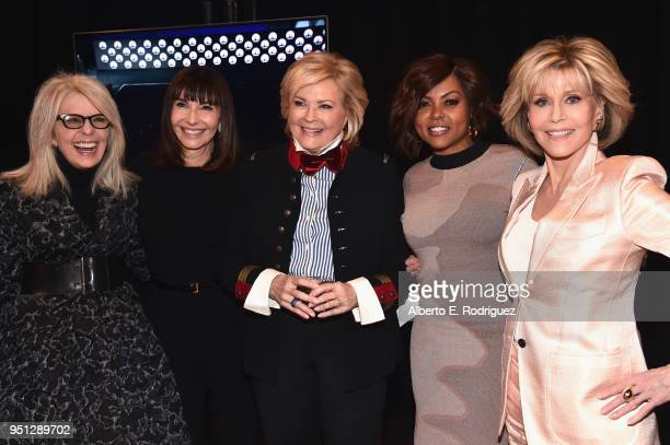 Actors Diane Keaton Mary Steenburgen Candice Bergen Taraji P Henson and Jane Fonda attend the CinemaCon 2018 Paramount Pictures Presentation...
