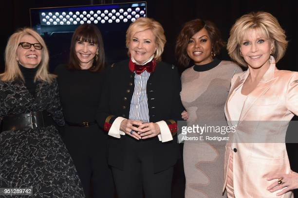 Actors Diane Keaton, Mary Steenburgen, Candice Bergen, Taraji P. Henson and Jane Fonda attend the CinemaCon 2018 Paramount Pictures Presentation...