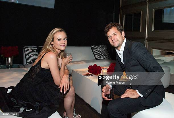 Actors Diane Kruger and husband Joshua Jackson attends the The Academy Of Motion Picture Arts And Sciences' Hollywood Costume Opening Party at...
