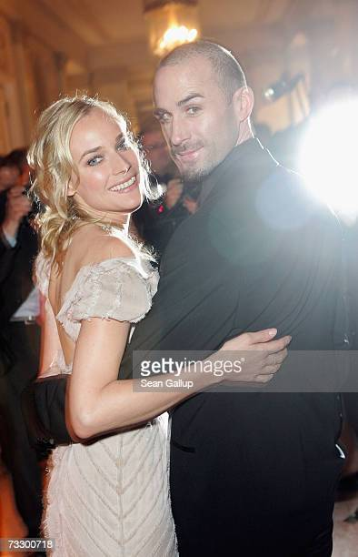 Actors Diane Kruger and Joseph Fiennes attends the Cinema for Peace Charity Gala on 12 February 2007 in Berlin Germany The gala is traditionally held...