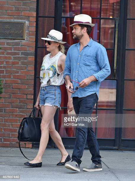 Actors Diane Kruger and Joshua Jackson are seen on July 31 2014 in New York City