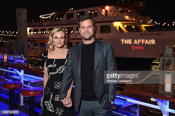 Actors Diane Kruger and Joshua Jackson attend premiere of SHOWTIME drama The Affair held at North River Lobster Company on October 6 2014 in New York...