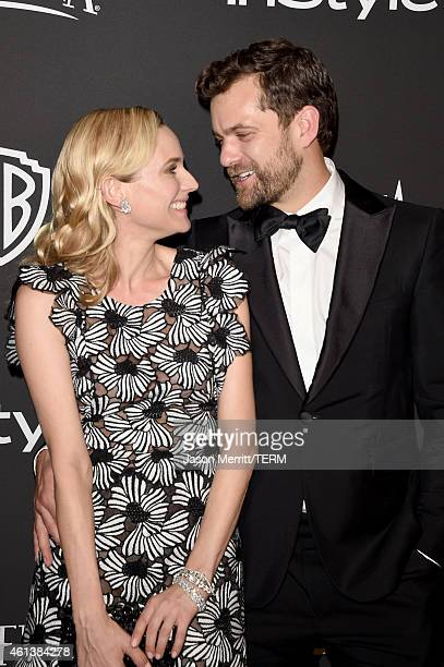 Actors Diane Kruger and Joshua Jackson attend the 2015 InStyle And Warner Bros 72nd Annual Golden Globe Awards PostParty at The Beverly Hilton Hotel...
