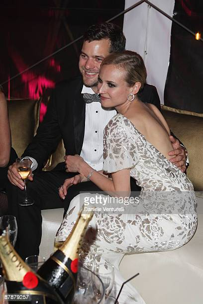Actors Diane Kruger and Joshua Jackson attend the ''Inglourious Basterds' after party presented by Belstaff at Baoli during the 62nd Annual Cannes...