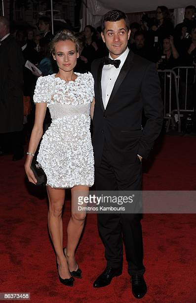 Actors Diane Kruger and Joshua Jackson attend The Model as Muse Embodying Fashion Costume Institute Gala at The Metropolitan Museum of Art on May 4...