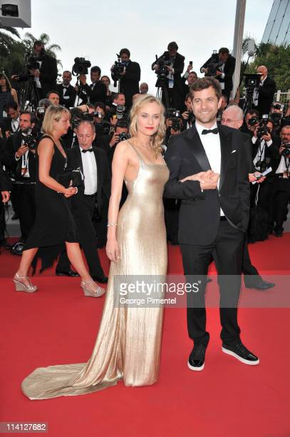 Actors Diane Kruger and Joshua Jackson attend the 'Sleeping Beauty' Premiere during the 64th Annual Cannes Film Festival at the Palais des Festivals...