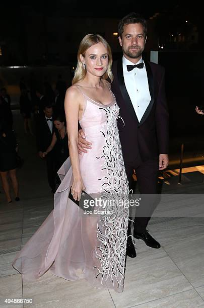 Actors Diane Kruger and Joshua Jackson for FIJI Water At amfAR's Inspiration Gala Los Angeles at Milk Studios on October 29 2015 in Hollywood...