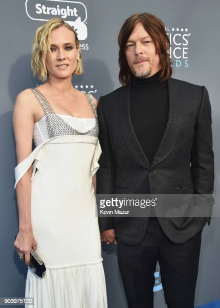 Actors Diane Kruger and Norman Reedus attend The 23rd Annual Critics' Choice Awards at Barker Hangar on January 11 2018 in Santa Monica California