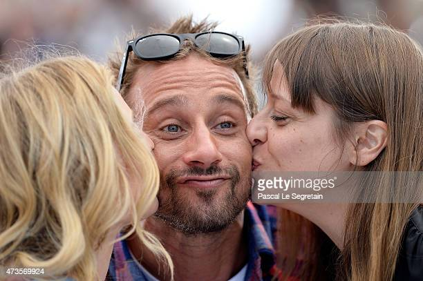 Actors Diane Kruger Matthias Schoenaerts and Alice Winocour attend a photocall for Disorder during the 68th annual Cannes Film Festival on May 16...