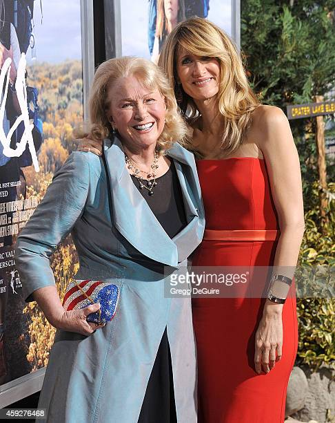 Actors Diane Ladd and daughter Laura Dern arrive at the Los Angeles premiere of Wild at AMPAS Samuel Goldwyn Theater on November 19 2014 in Beverly...