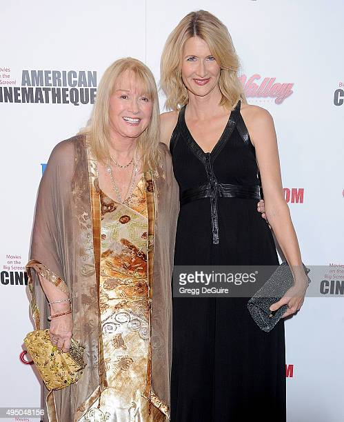 Actors Diane Ladd and Laura Dern arrive at the 29th American Cinematheque Award honoring Reese Witherspoon at the Hyatt Regency Century Plaza on...