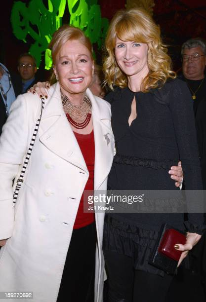 Actors Diane Ladd and Laura Dern attend the Enlightened Season 2 Premiere presented by HBO at Avalon on January 10 2013 in Hollywood California
