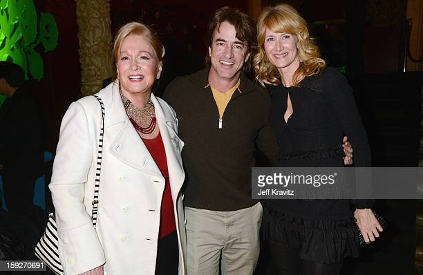 Actors Diane Ladd Dermot Mulroney and Laura Dern attend the Enlightened Season 2 Premiere presented by HBO at Avalon on January 10 2013 in Hollywood...