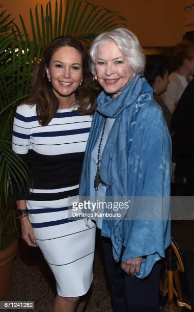 Actors Diane Lane and Ellen Burstynattends CHANEL Tribeca Film Festival Women's Filmmaker Luncheon at The Odeon on April 21 2017 in New York City